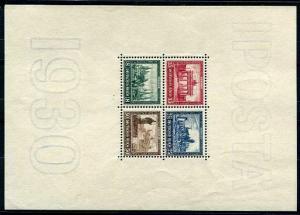 HERRICKSTAMP GERMANY Sc.# B33 1930 IPOSTA Mint NH Stamp S/S