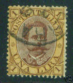 Italy 1889 Scott 56 Used King Humbert I stamp CV $18