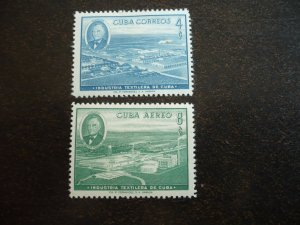 Stamps - Cuba - Scott# 590,C178 - Mint Hinged Set of 2 Stamps