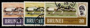 BRUNEI QEII SG175-177, complete set, FINE USED.