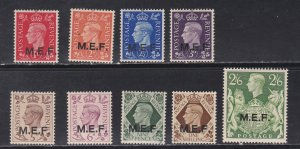 Great Britain - Middle East Forces # 1-9, Light Hinged, 1/3 Cat.
