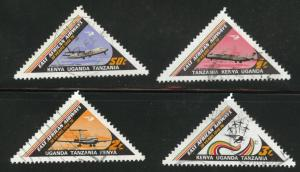 Kenya Ugand Tanganyika, KUT  Scott 320-323 Used  1976 set
