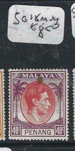 MALAYA PENANG   (P2206B)   KGVI  40C  SG  18   MOG