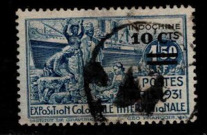 French Indo-China Scott 142 Used 1931 Surcharged Intl Expo stamp