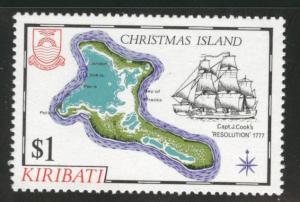 Kiribati Scott 372 MNH** Christmas Island 1981 map stamp