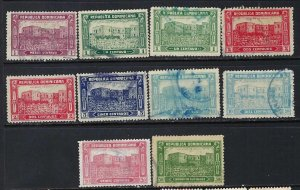 DOMINICAN REPUBLIC 241-47 + REPRINTS VFU COLUMBUS R11-176