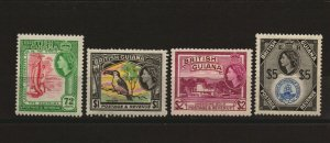 British Guiana - SG# 342 - 345 MLH / High Values  - Lot 0719315