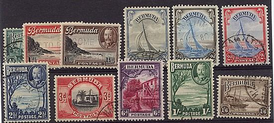 Bermuda - 1936-1940 KGV Pictorials Complete used
