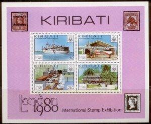 Kiribati 1980  SC# 352-5a S/S MNH L189