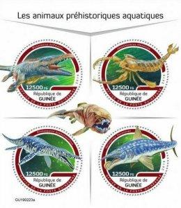 Z08 IMPERF GU190223a GUINEA (Guinee) 2019 Prehistoric water animals MNH
