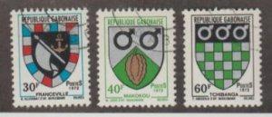 Gabon Scott #291-292-293 Stamp - Used Set