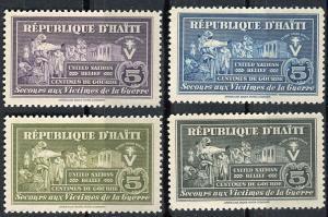 Haiti; 1944: Sc. # RA1-RA4: **/MNH Cpl. Set