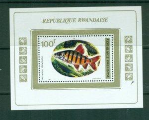 Rwanda  #549 (1973 Fish sheet) VFMNH CV $6.50