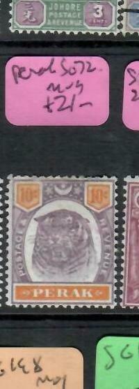 MALAYA PERAK (PP2706B)  TIGER   10C  SG 72   MOG