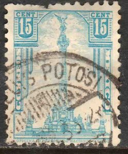 MEXICO 713, 15¢ INDEPENDENCE MONUMENT 1934 DEFINITIVE USED  F-VF. (534)