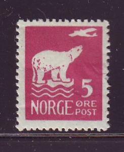 Norway Sc 106 1925 5 ore plane polar bear stamp mint