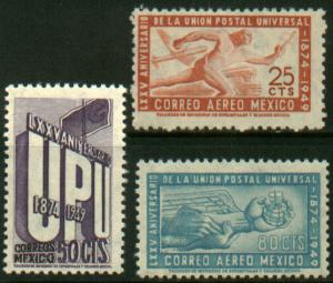 MEXICO 872, C203-04, 75th Anniv of UPU. Cplt. set MINT, NH. F-VF.