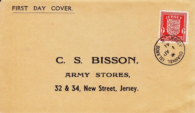 German Occupation of Jersey Island, 1943, FDC (16271)