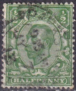 Great Britain #157  F-VF Used CV $3.50  (Z3685)