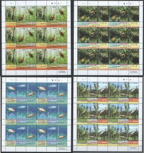 KS 2014-2015 COOK TONGAN ISLANDS BUTTERFLIES FISHES BIRDS MICHEL 1410 EU 4SH MNH