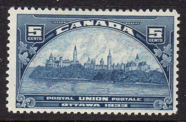 Canada Sc 202 1933 5c Postal Union Conference stamp mint