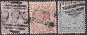 Victoria #162-3, 165  F-VF Used CV $4.05 (A18510)
