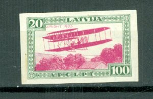 LATVIA IMPERF.  AIR #CB12a...MINT VERY LIGHT H..CAT. $17.50