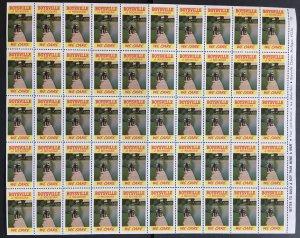 Boysville of Michigan Label Cinderella Stamp Full Sheet
