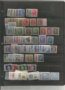 CANADA COLLECTION ON STOCK PAGES, ALL MINT, MOSTLY MNH