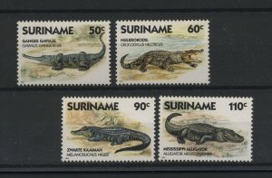 Suriname MNH 1112-5 Crocodiles Reptiles 1988