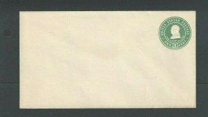 U379 1c Green On White Mint Entire Die 106 Size 10