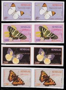 Senegal 1187 - 1190 Imperf Pairs MNH