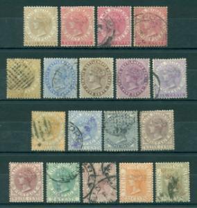 Straits Settlements #40-57  Mixed M&U  F  Scott $512.60