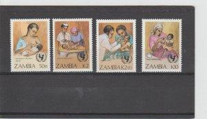 Zambia  Scott#  440-443  MH  (1988 UN Child Survival Campaign)