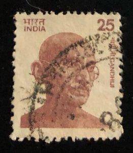 India Scott#677 Gandhi F/VF Used  Cat. $2.25
