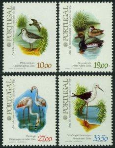 Portugal MNH 1542-5 Water Birds Fauna 1982