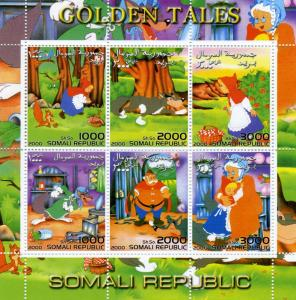 Somalia 2000 GOLDEN TALES Little Red Riding Hood Sheet Perforated Mint (NH)