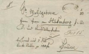 Austria Kremsier c1830 serified sl in oval on Stampless Folded Letter to Brunn.