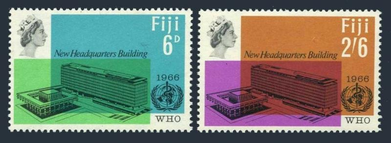 Fiji 224-225, Mnh.michel 196-197. Who Neu Headquarters, 1966
