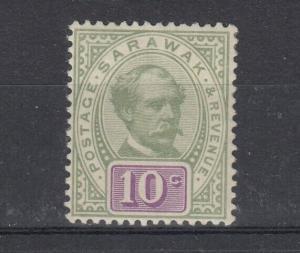 Sarawak 1888 10c Green Purple SG15 MH J4998