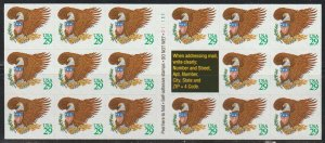 United States  SC 2596a Booklet Mint Never Hinged. Plate D11111