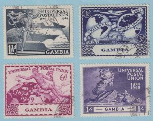 GAMBIA 148 - 151  USED - NO FAULTS EXTRA FINE ! - W108
