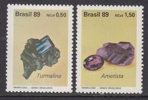 Brazil 2198-9 Gemstones mnh