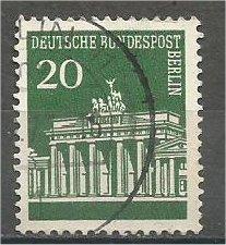 GERMANY, 1966, used 20pf, Brandenburg Gate Scott 953