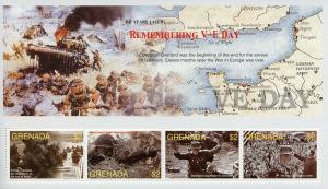 Grenada 2005 MNH WWII WW2 VE Day End World War II 4v M/S D-Day Military Stamps