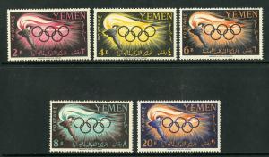 YEMEN 98-102 MNH SCV $7.50 BIN $3.75 OLYMPICS
