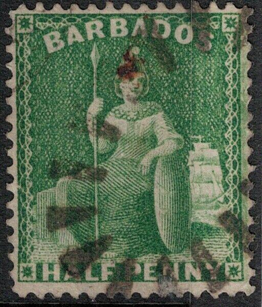 Barbados 1859 SC 10 Used SCV $500.00