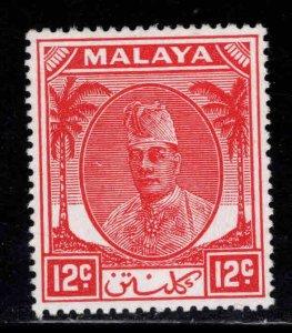 MALAYA Kelantan Scott 67 MH* Sultan Ibrahim stamp