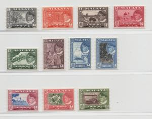 Malaya Johore - 1960 - SG 155-65 - MNH