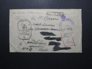 India 1943 Forces Cover / Censored / APO 304 Bombay Navy - Z12381